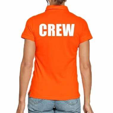 Goedkope crew poloshirt oranje dames