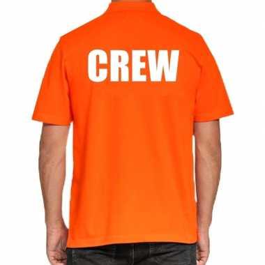 Goedkope crew poloshirt oranje heren