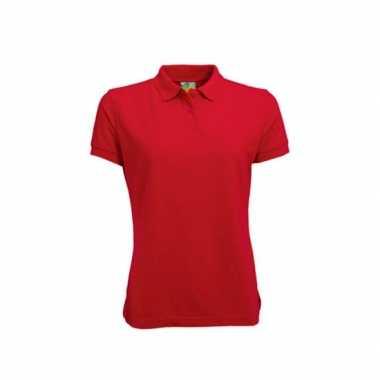 Goedkope getailleerde rood dames polo poloshirt