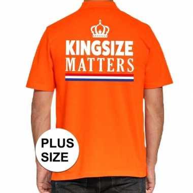 Goedkope grote maten kingsize matters poloshirt oranje heren