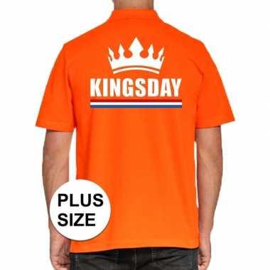 Goedkope grote maten koningsdag poloshirt kingsday oranje heren