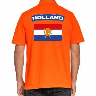 Goedkope holland supporter poloshirt oranje heren