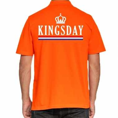 Goedkope kingsday poloshirt vlag oranje heren
