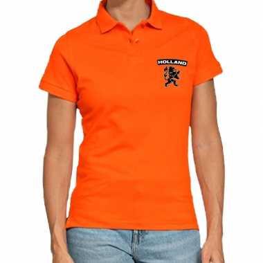 Goedkope koningsdag poloshirt holland leeuw oranje dames