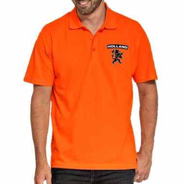Goedkope koningsdag poloshirt holland leeuw oranje heren