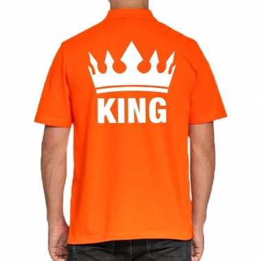 Goedkope koningsdag poloshirt king oranje heren