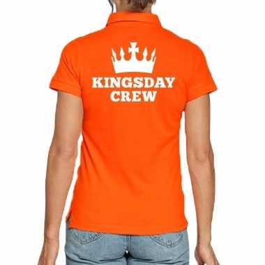 Goedkope koningsdag poloshirt kingsday crew dames