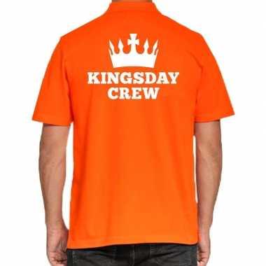 Goedkope koningsdag poloshirt kingsday crew heren