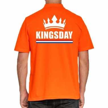 Goedkope koningsdag poloshirt kingsday oranje heren