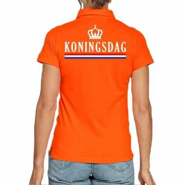 Goedkope koningsdag poloshirt oranje dames