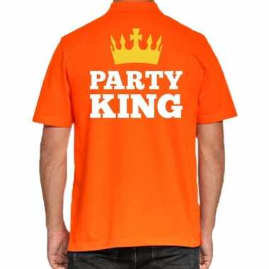 Goedkope koningsdag poloshirt party king heren