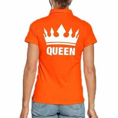 Goedkope koningsdag poloshirt queen oranje dames