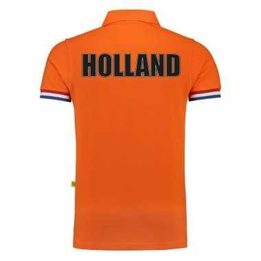Goedkope luxe holland supporter poloshirt grams ek / wk heren
