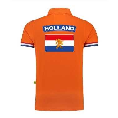 Goedkope luxe holland supporter poloshirt nederlandse vlag grams ek / wk heren