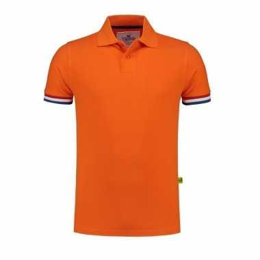 Goedkope  Oranje fan polo poloshirt