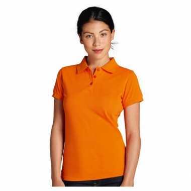 Goedkope  Oranje getailleerde poloshirt