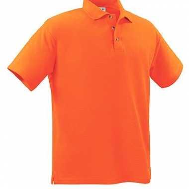 Goedkope oranje kinder poloshirt