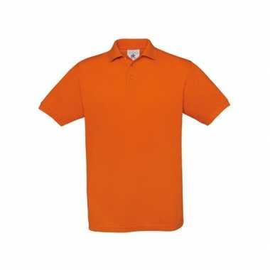 Goedkope  Oranje polo poloshirt korte mouw