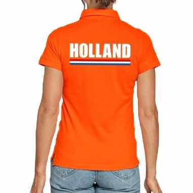 Goedkope oranje poloshirt holland dames