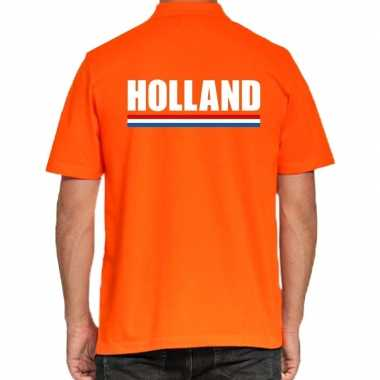 Goedkope oranje poloshirt holland heren
