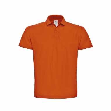 Goedkope oranje poloshirt / polo poloshirt basic katoen heren