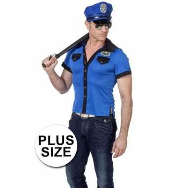 Goedkope  Plus size politie poloshirt heren