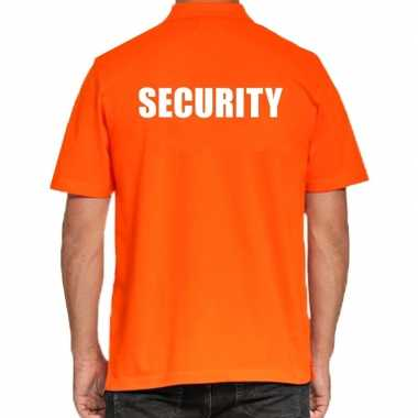 Goedkope security poloshirt oranje heren