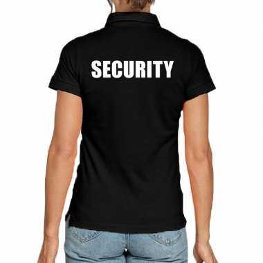 Goedkope security poloshirt zwart dames