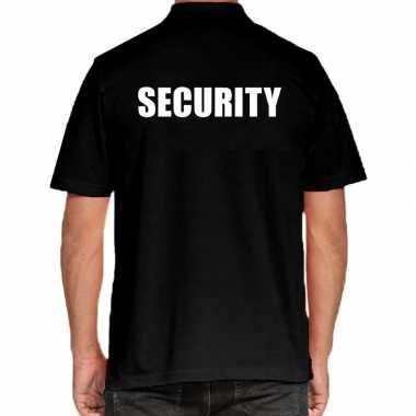 Goedkope security poloshirt zwart heren
