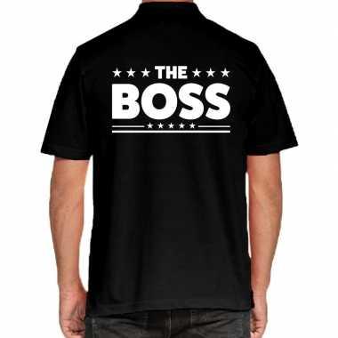 Goedkope the boss poloshirt zwart heren