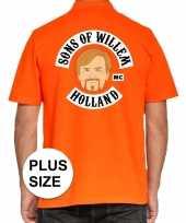 Goedkope grote maten koningsdag poloshirt sons of willem oranje heren