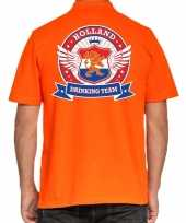 Goedkope holland drinking team poloshirt oranje heren