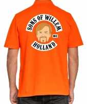 Goedkope koningsdag poloshirt sons of willem holland oranje heren