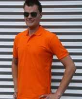 Goedkope poloshirt oranje basic